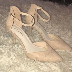Aldo ankle strap heels